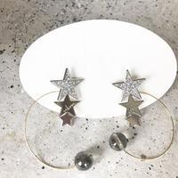 【nikori】 PLANET- crystal silver  pierce / earring
