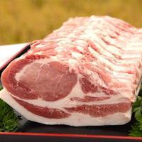 【白河高原清流豚】ロース1本分 (ブロック1㎏ 切身900g 焼肉用1㎏ しゃぶしゃぶ用1㎏ 味噌漬け10枚)
