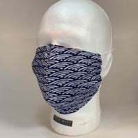 Mサイズ/涼快手拭いリメイク 御守りマスク /青海波(せいがいは)/NMSK_M_11_200701