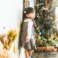 イニシャル刺繍ジャンパースカート