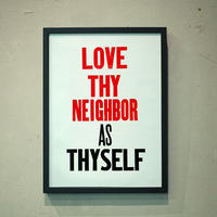 LOVE THYNEIGHBOR AS THYSELF