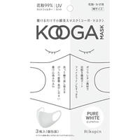 KOOGAマスク 3枚set  ピュアホワイト  Msize