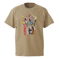 怪談レトロTシャツ(サンドカーキ)