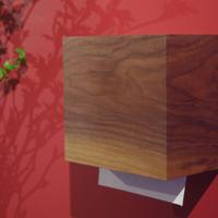 天然木のペーパータオルホルダー<ウォールナット材>