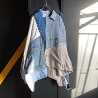 """""""多面的少女的ショートコート"""" Multi-faceted blue denim short coat Like a Girl friend"""