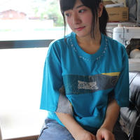 """よせあつめのほつれ愛、Tシャツ """"恋患う胸の青色"""""""