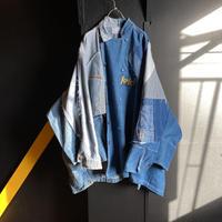 """""""多様的な青空間のデニムコート""""  Diversity and space blue denim coat"""