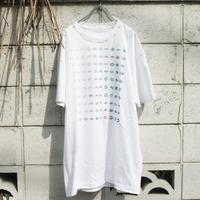 """""""100人の青いキス"""" 100 kisses T-shirt of Blue hand printed"""