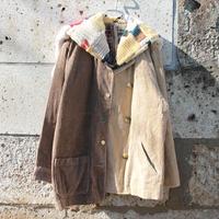秋と冬をつないだつぎはぎニットセーラー・コーデュロイジャケット