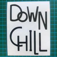 DOWNCHILL カッティングステッカー / BLACK
