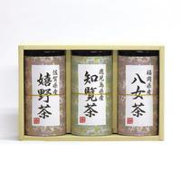 九州銘茶セット N-40(八女茶90g・知覧茶90g・嬉野茶90g)