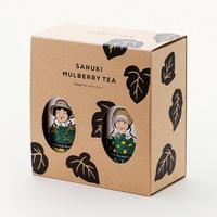 さぬきマルベリーティー【桑茶玄米ティーバッグ・桑茶レモンティーバッグ、缶・箱入り、2本セット】