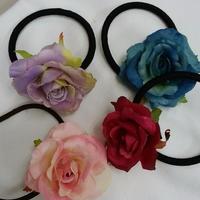 本物ソックリ 薔薇のヘアゴム ピンク