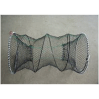 NS魚篭 円形 蛇腹式 30㎝ 餌カゴ付