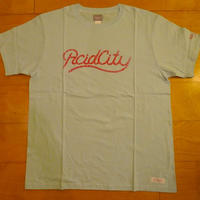 DELUXE x NITELIST ACID CITY Classic Tee Shirts LIGHT BLUE