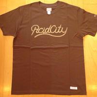 DELUXE x NITELIST ACID CITY  Classic Tee Shirts BROWN