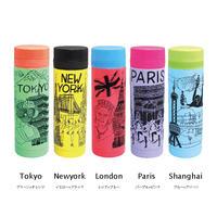 真空シティボトル AY010-250| Tokyo, New York, London, Paris, Shanghai|各柄4個アソート(計20個セット)