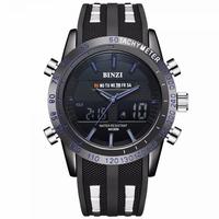 BINZI腕時計メンズLED高級スポーツ時計デジタル メンズクォーツ腕時計