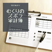【20日始まり】むくりのズボラ家計簿18.4-19.3