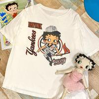 Betty Boop×Newyork Yankees T-Shirt