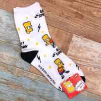 The Simpsons Socks Bart White