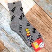 The Simpsons Socks Grey