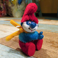 Papa Smurf Clip Doll Yellow