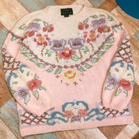 Design Knit Sweater Pink