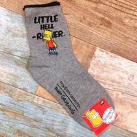 The Simpsons Socks Bart Gray