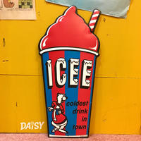 ICEE Metal Sign Red