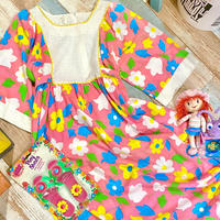 Vintage Flowers Happy Dress