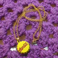 Coca Cola Necklace Yellow