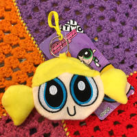 Power Puff Girls Coin Case Keychain Bubbles