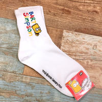 The Simpsons Socks Bart Name White