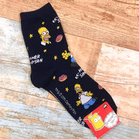The Simpsons Socks Homer Black