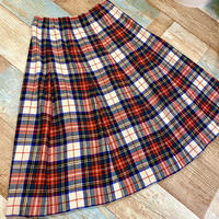 Pendleton Check Wool Skirt