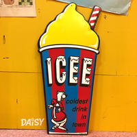 ICEE Metal Sign Yellow