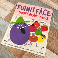Funny Face Drawstring Bag L