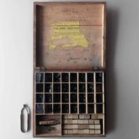 ND177 イギリス製 木箱入り活字セット