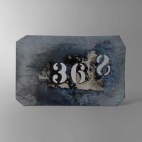 """ND219 ブリキのステンシル・プレート""""368"""""""