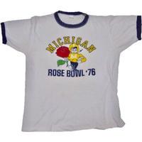 1976's  MICHIGAN カレッジリンガーT-shirts 実寸(M)