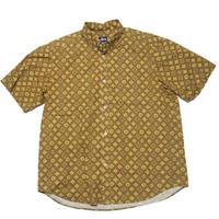 1990's  STUSSY ヴィトンパロディ モノグラム総柄 半袖シャツ  表記(XL)