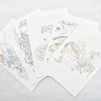 <Mariya Suzuki>ポストカード「Hotel Noum」5枚セット