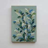 <ala yotto> ルームアート「花のよう」  /Ice green