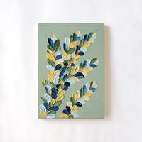 <ala yotto> ルームアート「花のよう」  / Opal green
