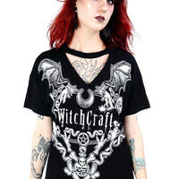 RE-3401 Black gothic choker TOP<witchcraft/各サイズ>