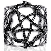 RE-3241 SNAKE PENTAGRAM BRACELET<SLV>