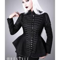 RE-0038 Black military jacket<BLK/S>
