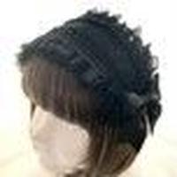 16024 薔薇フリルヘッドドレス<BK×BK>