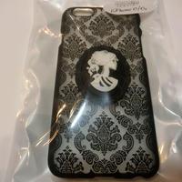 ダマスク iPhoneケース <ホワイト骸骨婦人/各サイズ>